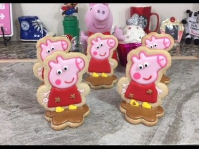 3D Peppa Pig In Mud Cookies (How To)