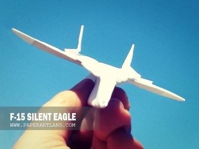 BEST PAPER AIRPLANES [108] - How to make an paper plane that flies FAST & FAR | F-15 Silent Eagle