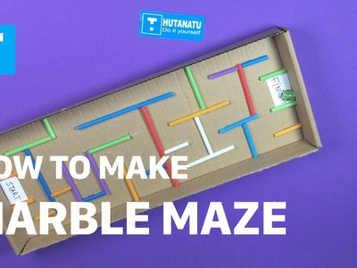 DIY - How To Make Toys For Kids - How To Make A Marble Maze - DIY Caft For Children - HuTaNaTu
