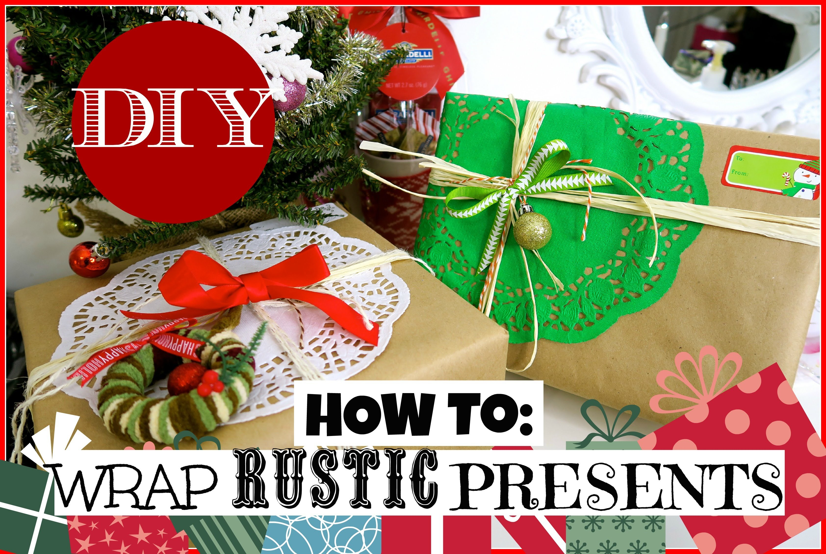 Dollartree How to: Wrap Rustic Christmas Presents