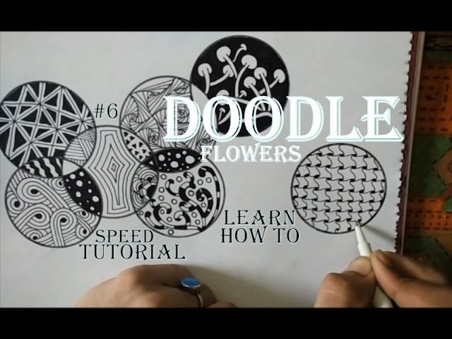 Doodle Art Tutorial For Beginners, How To Draw Complex Zentangle Flower, Step by Step Easy Drawing.