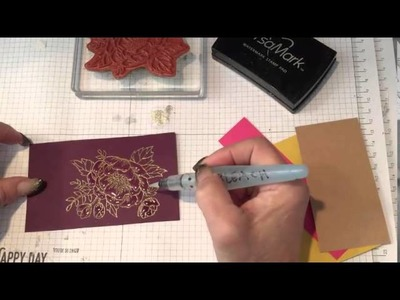 How to color stamped images with Bleach