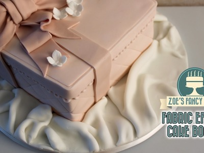 How to create a fabric effect on a cake board