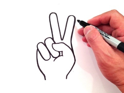 How to Draw a Peace Sign