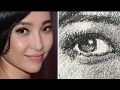 How to Draw a Pretty Face with Pencil - Li Bing Bing