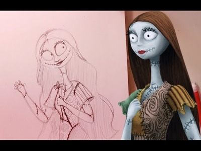 How to Draw SALLY from Tim Burton's The Nightmare Before Christmas- @dramaticparrot