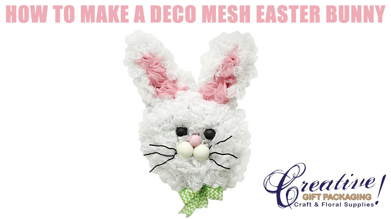 How to Make a Deco Mesh Easter Bunny using a new technique