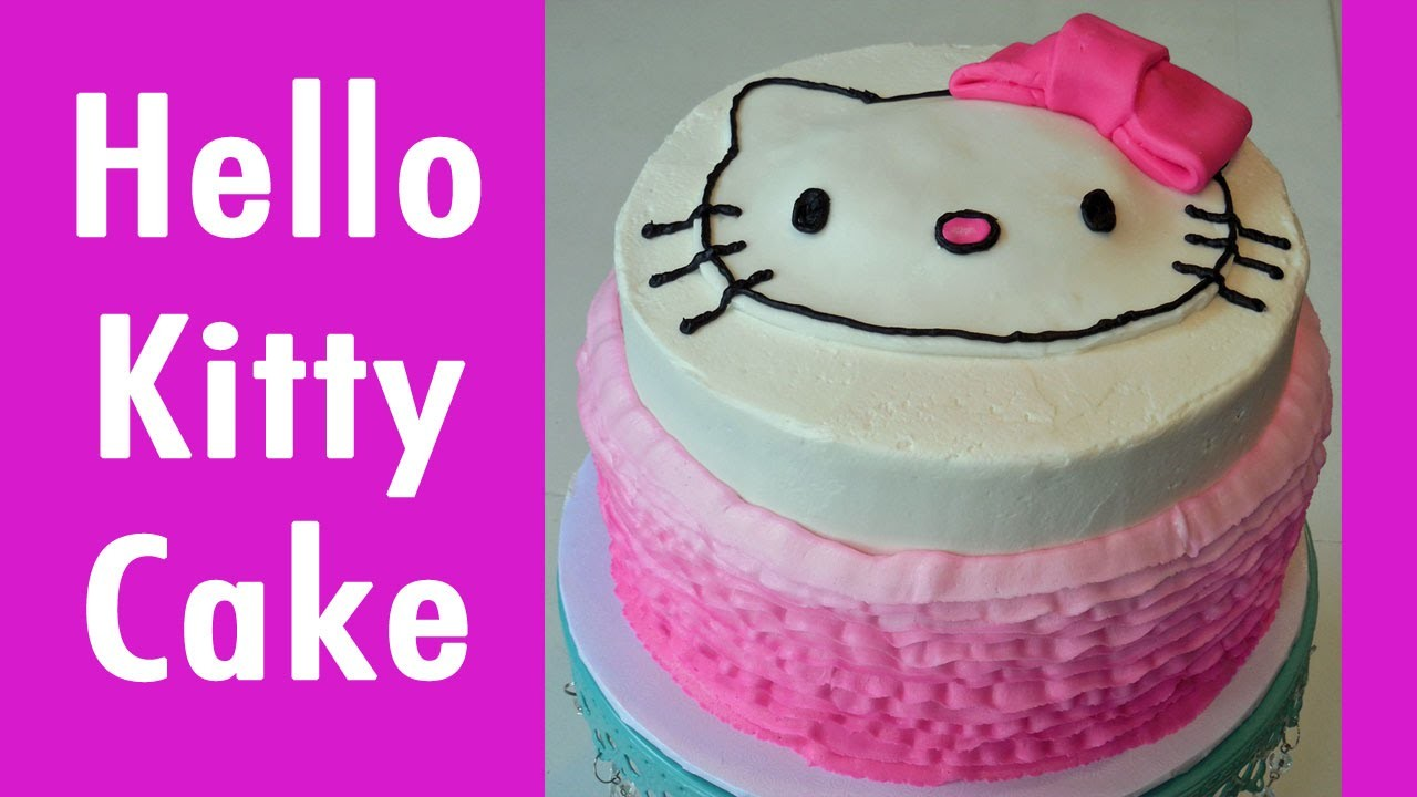 How to Make a HELLO KITTY Birthday Cake - with JILL