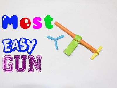 How to Make a most easy Paper Gun That Shoots Paper Bullets   Easy Tutorials