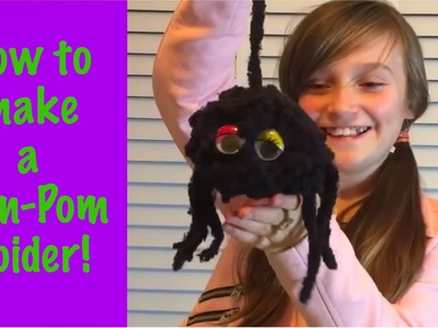 How To Make A Spider Pom Pom Puppet! Halloween