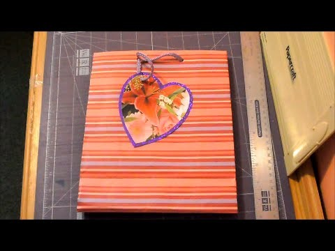 How to make a upcycled gift tag heart for Valentines day