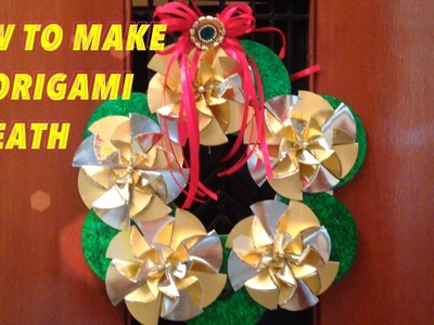 HOW TO MAKE CD ORIGAMI WREATH | BEST FROM WASTE