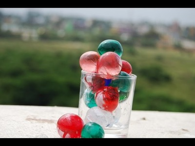 How to make color water balls easily & quickly?