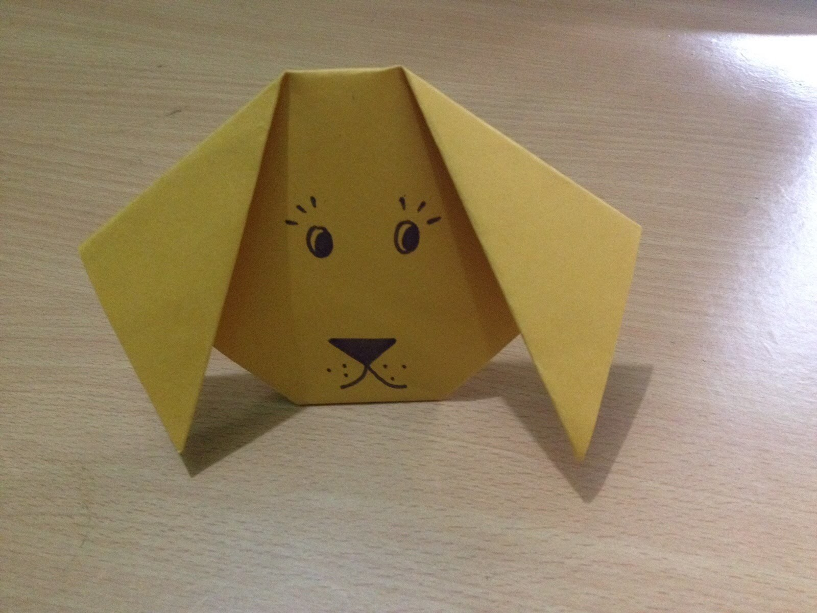 How To Make A Origami Puppy Face