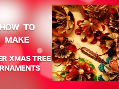 How to Make Newspaper XMas Tree ORNAMENTS | Xmas Special