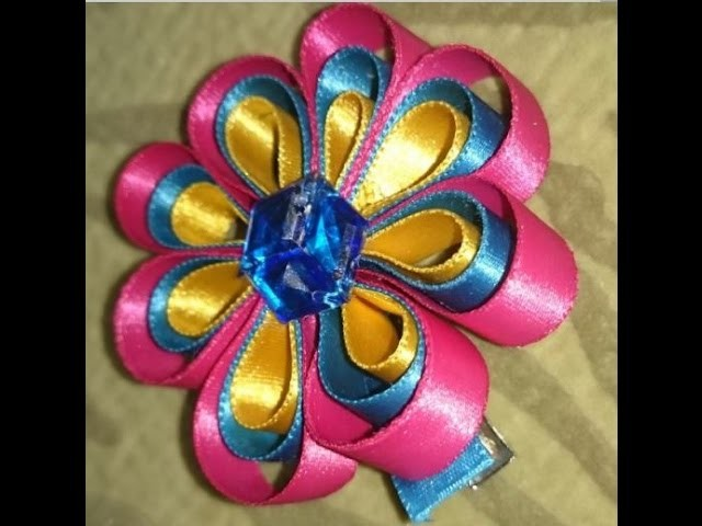 How to Make Ribbon Flowers Step by Step | How to Make Ribbon Flowers Step by Step