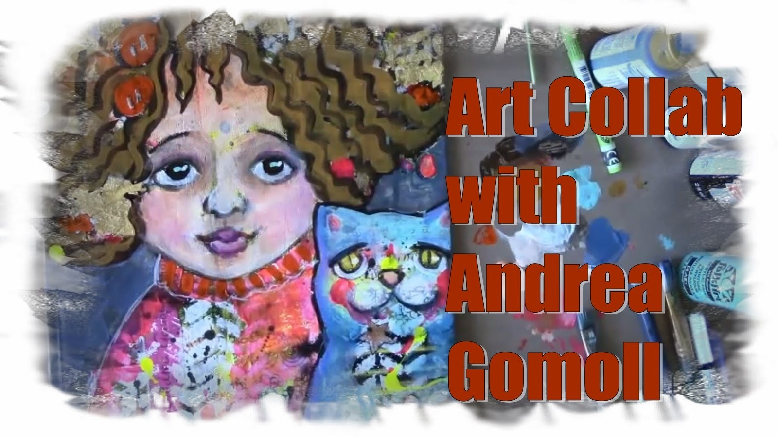 How to paint a girl with a cat ~Collab With Andrea Gomoll Part 2