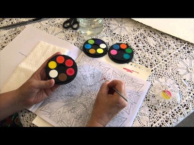 How to Use Watercolour (watercolour) Paints in Colouring (coloring) Books