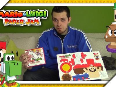 Mario & Luigi: Paper Jam - How To Build Papercraft Mario, Luigi, Yoshi, & Goomba!