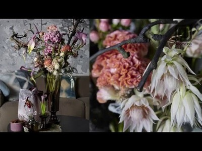 Mystic beauties floral winter arrangement How to make