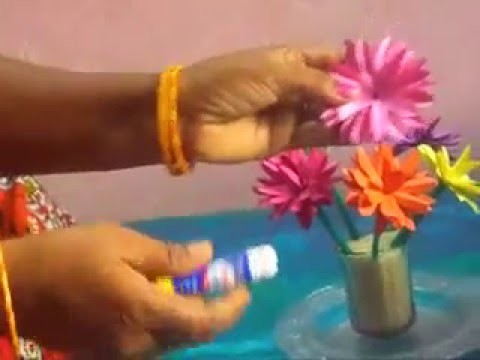 Paper Crafts Ideas - How to make a Beautiful Lotus flower  with paper