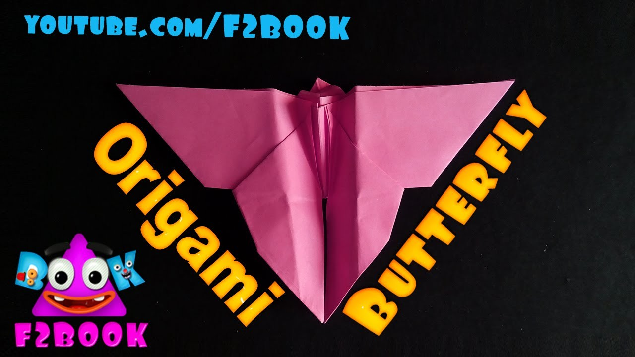 Butterfly Paper Folding Instructions - Origami by F2BOOK