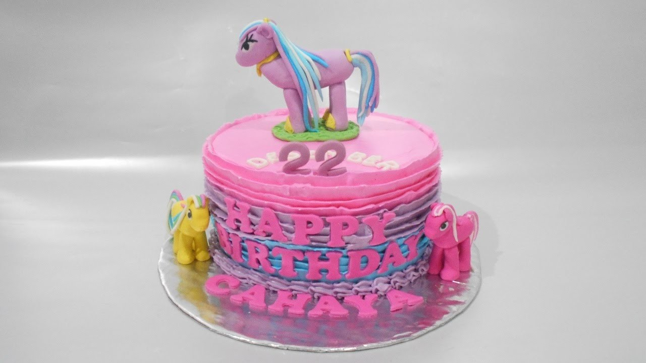 Cake My Little Pony Longish Simple How to Make
