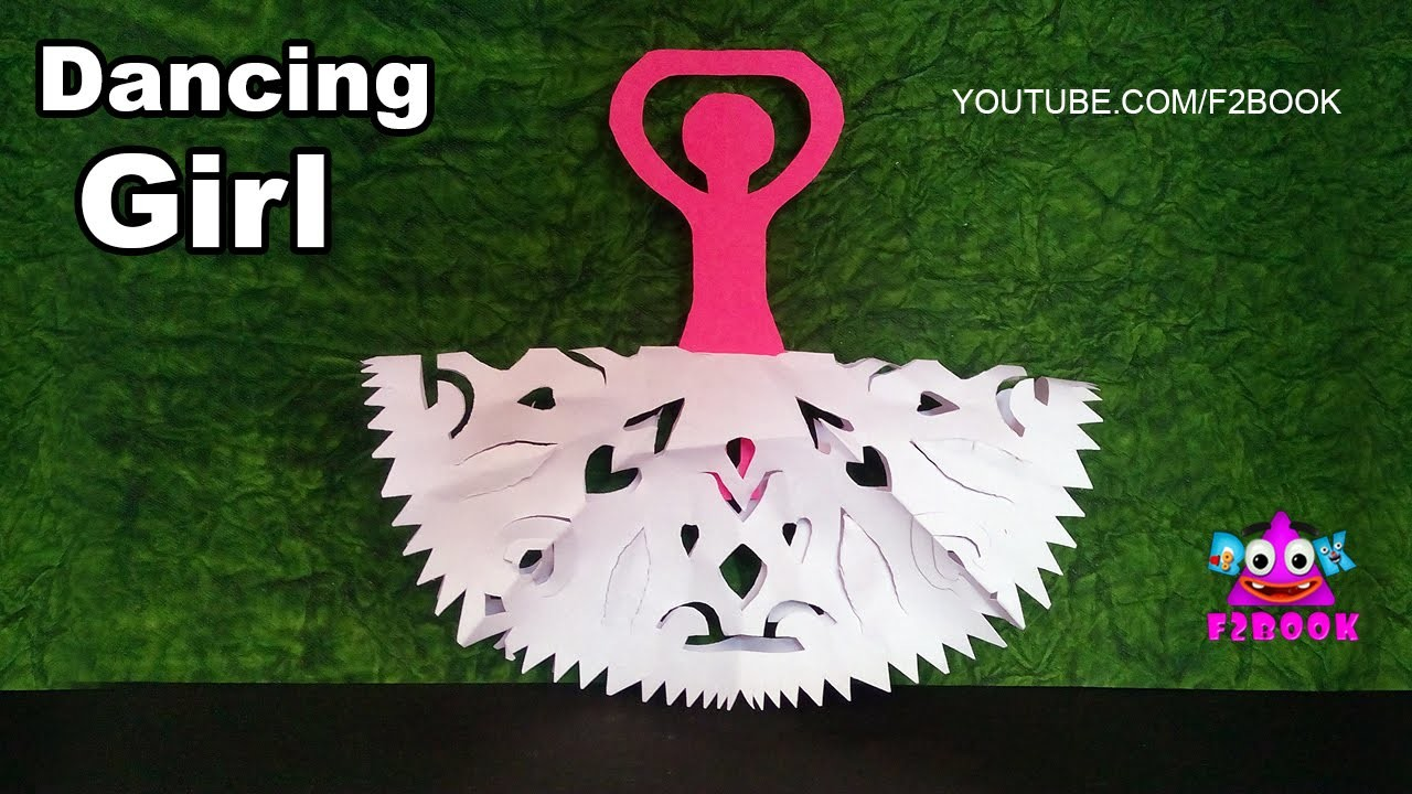Dancing Girl Paper Cutting Design - origami instructions