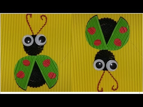 DIY beetle from corrugated paper. kokoru paper (simple and easy)