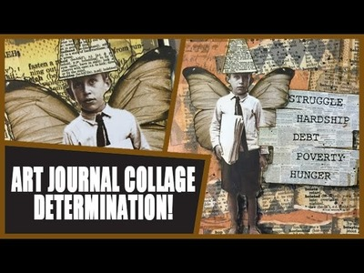 How to: Art Journal Page - Determination
