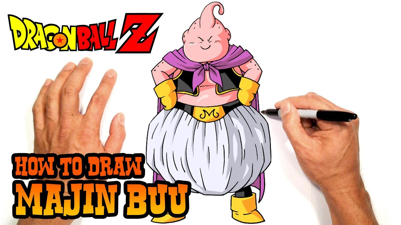 How to Draw Majin Buu (Dragon Ball Z)- Step by Step Art Lesson