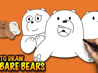 How to draw We Bare Bears - Easy step-by-step drawing tutorial