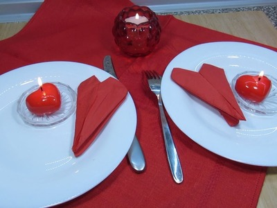 How To Fold Napkins For Romantic Dinner On Valentine's Day