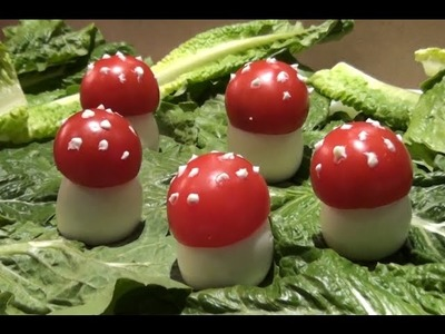 How to Make a Mushroom shaped Eggs & Tomatoes Salad