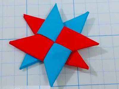 How to make a Paper Ninja Star | 8 Pointed | Double Ninja Star - Origami Star