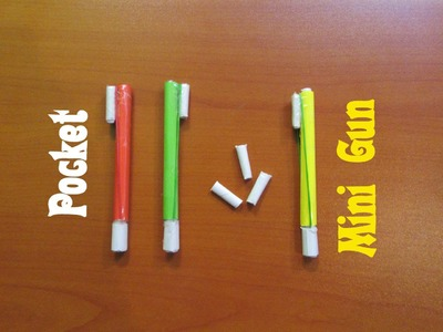 How to Make a Paper Pocket Mini Gun that Shoots Paper Bullet - Easy Tutorials