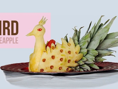 How to Make a Peacock with Pineapple - J.Pereira Art Carving Fruit