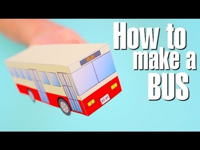 How to make a Red Bus. Learn video for children. Cars Toon