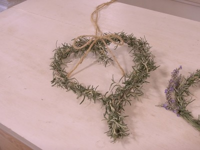 How to Make a Rosemary Heart for Valentines Day
