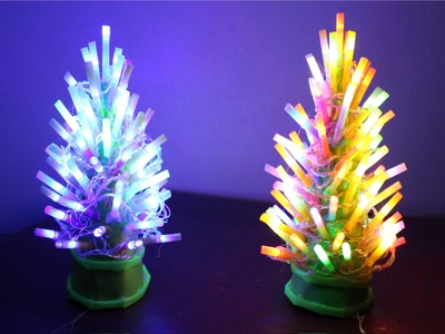 How To Make An Illuminated  Christmas Tree Lamp