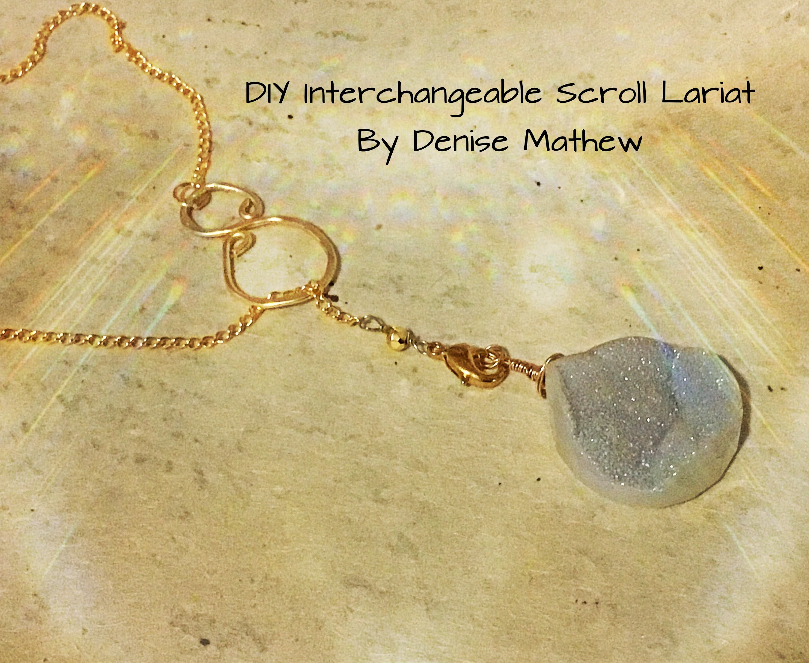 How to Make an Interchangeable Scroll Lariat by Denise Mathew