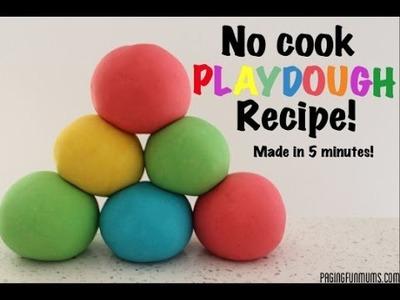 How to make No Cook Playdough