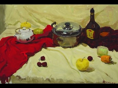 How to paint  Still life in acrylic - Time-lapse Still life Painting