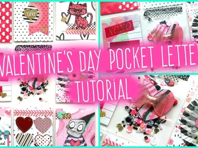 How To: POCKET LETTER TUTORIAL #11. Valentine's Day Theme!