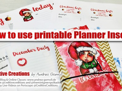 How to use my printable Planner Inserts