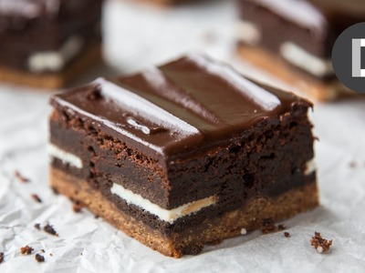 OMG Slutty Brownie! How to make Chocolate Chip Cookie Oreo Brownies!
