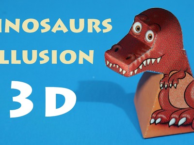 Origami 3d - how to make 3d origami Dinosaur illusion (Easy)