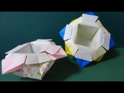 Origami Box - How to make an Origami Flower Box