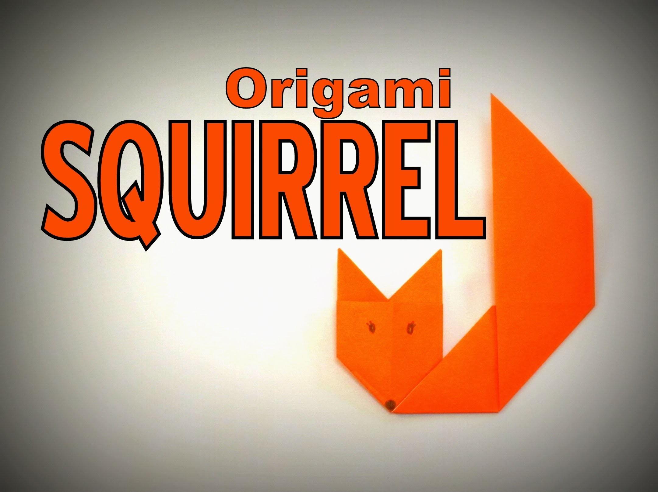 Origami - How to make a SQUIRREL