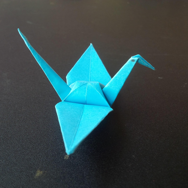 Paper bird   Origami bird #1 - easy tutorial for beginners